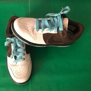 Turquoise and brown women's Nike shoes